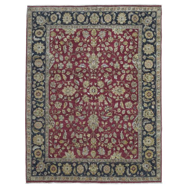 One-of-a-Kind Baron Oriental Hand Woven Wool Red Area Rug by Isabelline