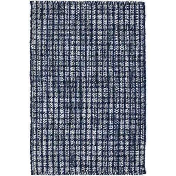 Hand-Woven Blue Indoor/Outdoor Area Rug by Dash and Albert Rugs