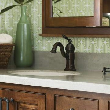 Waterhill Single Hole Bathroom Faucet with Optional Pop-Up Drain by Moen