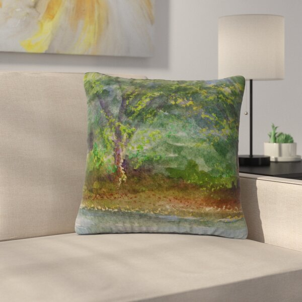 Cyndi Steen Storm on the Pond Outdoor Throw Pillow by East Urban Home