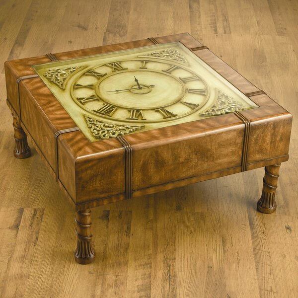 Eveleth Clock Coffee Table by Astoria Grand