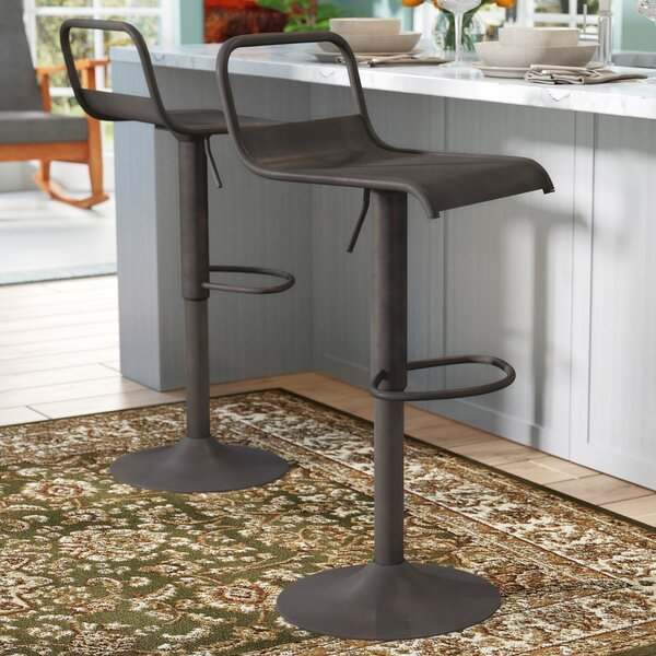 Chance Adjustable Height Swivel Bar Stool by Ebern Designs
