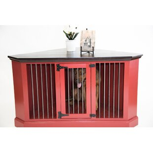 Brooke Medium Corner Credenza Pet Crate