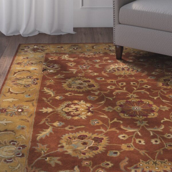 Cranmore Red/Natural Rug by Charlton Home