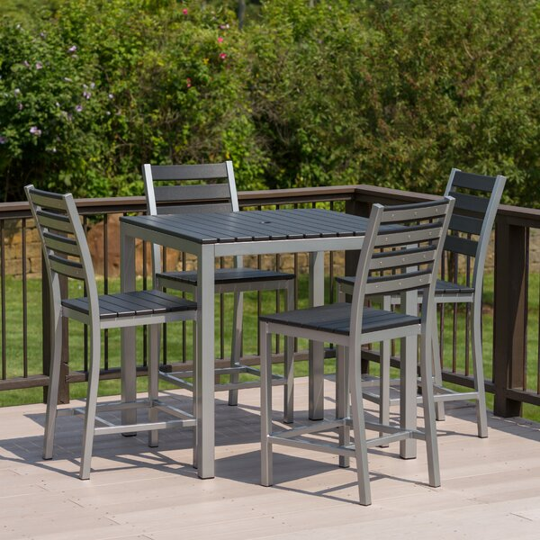 Loft 5 Piece Bar Height Dining Set by Elan Furniture