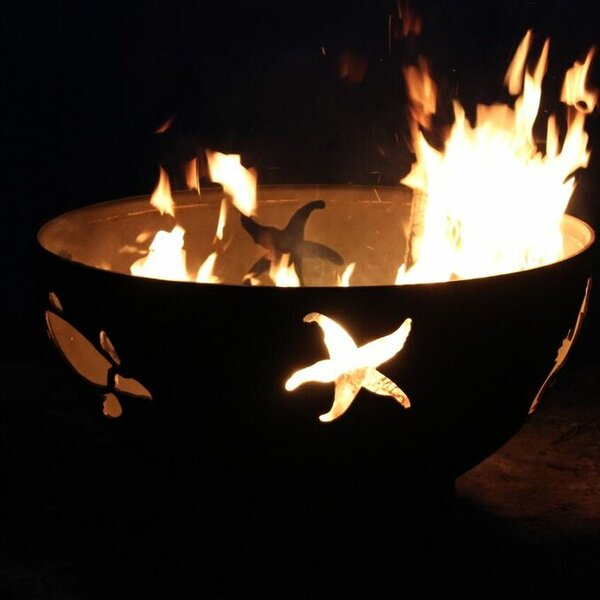 Sea Creatures Steel Fire Pit by Fire Pit Art