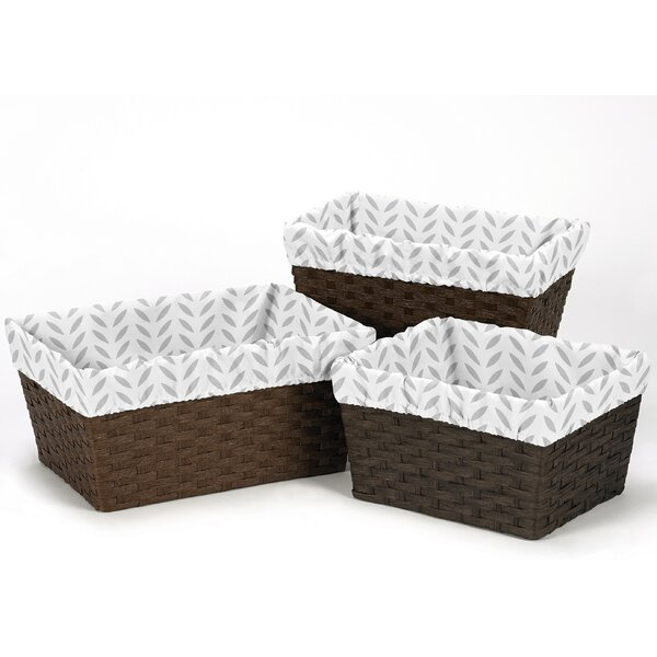 Forest Deer 3 Piece Basket Liner Set by Sweet Jojo Designs