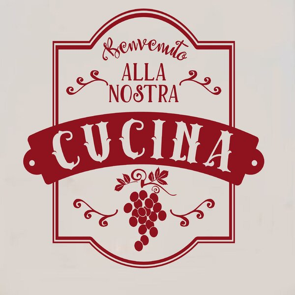 Benvenuto Alla Nostra Cucina Italian Vinyl Wall Decal
