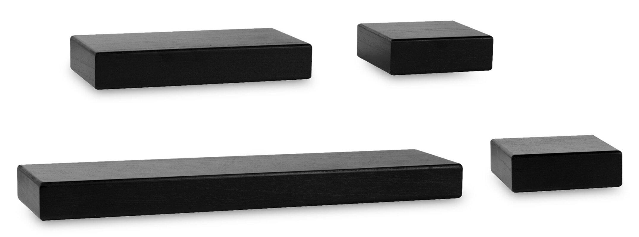 Melannco Chunky Ledge 4 Piece Floating Shelf Set & Reviews | Wayfair