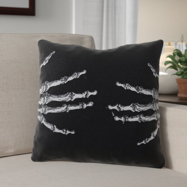 Skeleton Throw Pillow by The Holiday Aisle