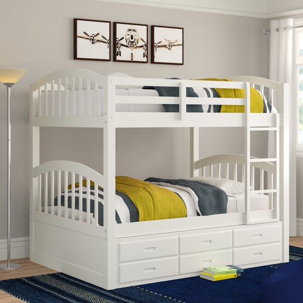 Chamblee Twin Over Twin Bunk Bed with Trundle by Three Posts Teen
