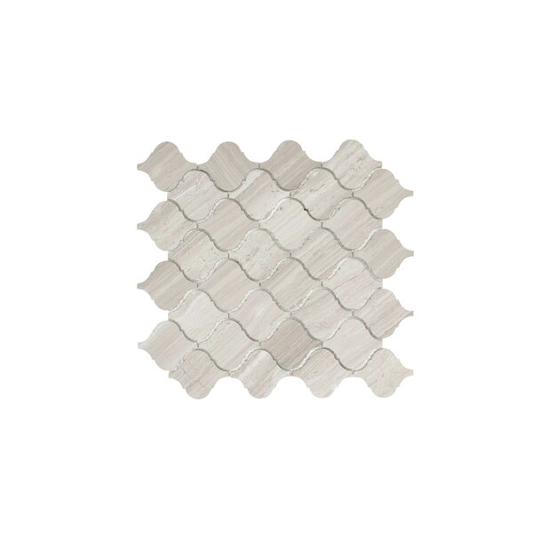 Lovisa 2.5 x 2.9 Marble Mosaic Tile in Wooden White by Maykke
