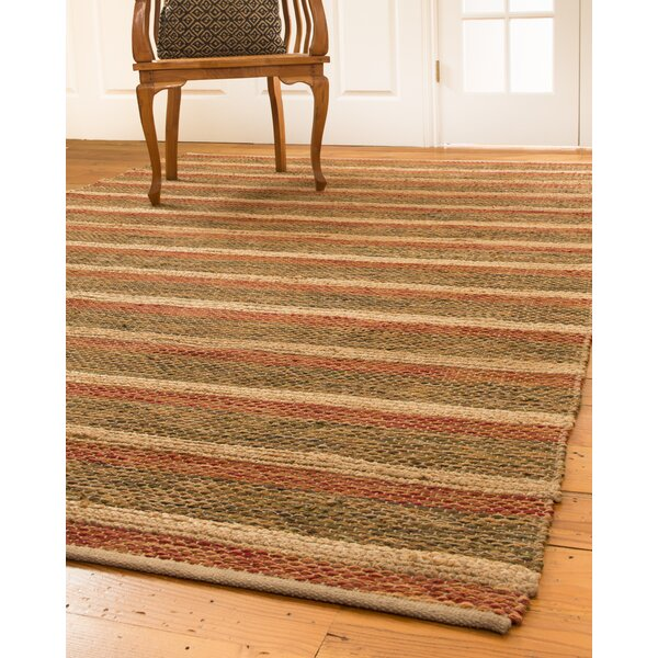 Meera Hand-Loomed Red/Green Indoor Area Rug by Natural Area Rugs