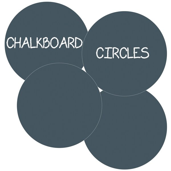 Chalkboard Circle Wall Decal (Set of 4) by Symple Stuff