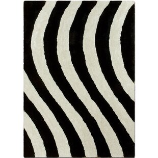 Check Prices Hand-Tufted Black/White Area Rug ByAllStar Rugs