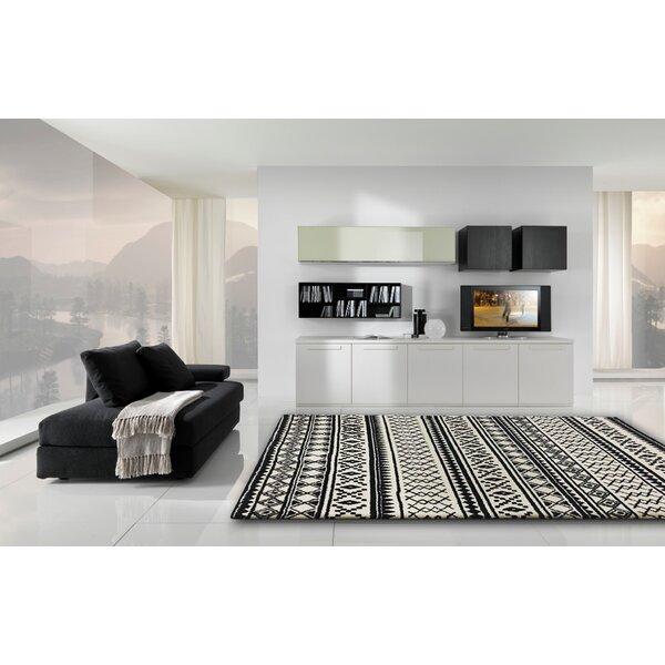 Gagliano Shag Hand Tufted Black/White Indoor Area Rug by Brayden Studio