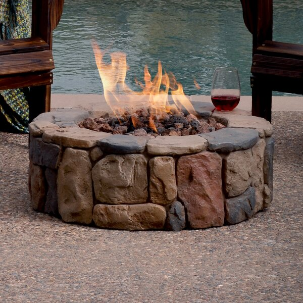 Petra Stone Propane Gas Fire Pit by Bond Manufacturing