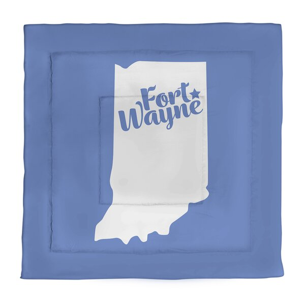 Fort Wayne Indiana Single Reversible Comforter