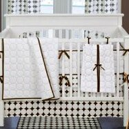 Dots and Stripes Reversible Crib Skirt by Bacati