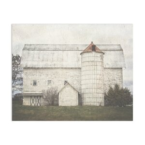 'White Holiday Barn' by Lisa Russo Photographic Print by KAVKA DESIGNS