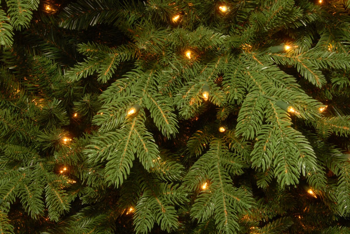 The Holiday Aisle Vienna PowerConnect™ 7.5\' Green Fir Artificial ...
