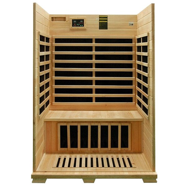 Canadian Hemlock Wood 2 Person FAR Infrared Sauna by ALEKO