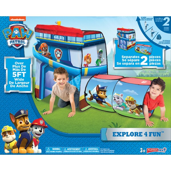 Paw Patrol Explore 4 Fun Pop-Up Play Tunnel by Pla