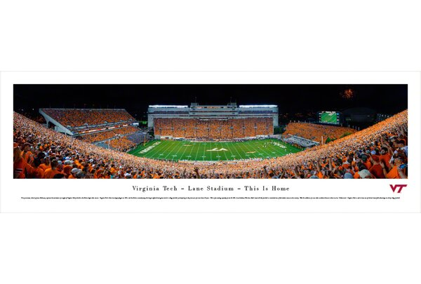 NCAA Virginia Tech - Football - 50 Yard Line by James Blakeway Photographic Print by Blakeway Worldwide Panoramas, Inc