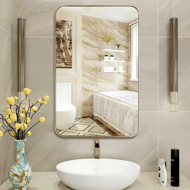 Latitude Run Lief Metal Modern Bathroom Mirror Reviews Wayfair