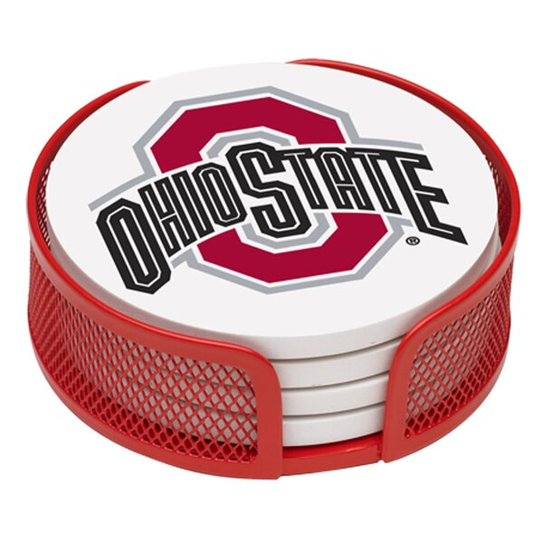 5 Piece Ohio State University Collegiate Coaster Gift Set by Thirstystone
