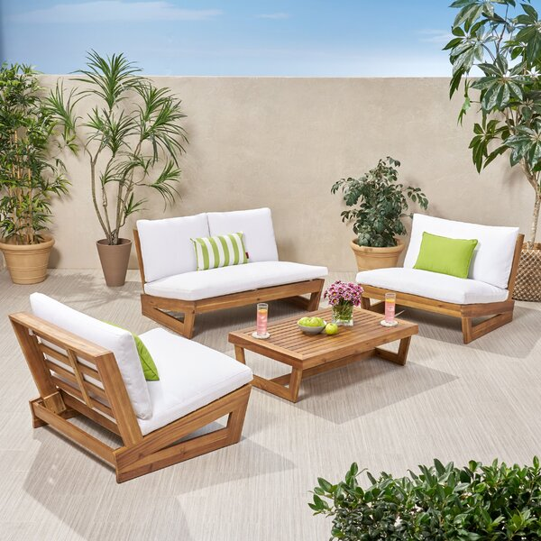 Pekalongan 4 Piece Sofa Seating Group with Cushions by Ebern Designs