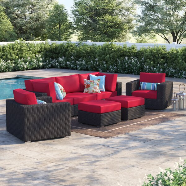 Brentwood 7 Piece Rattan Seating Group with Cushions by Sol 72 Outdoor
