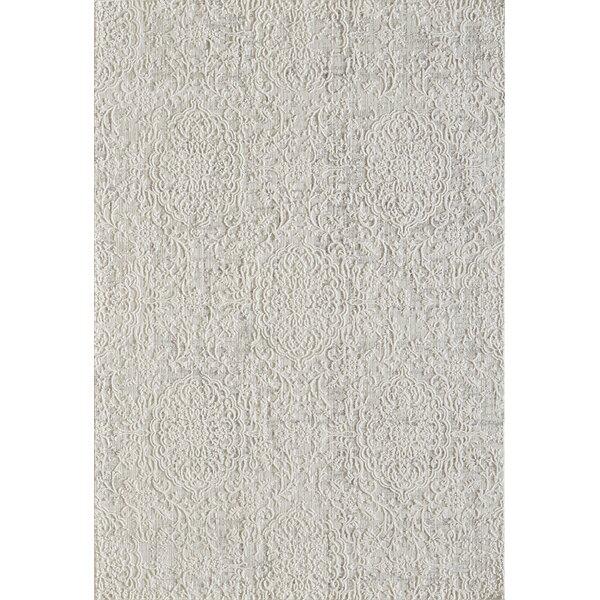 Caddie Ivory/Beige Area Rug by Ophelia & Co.
