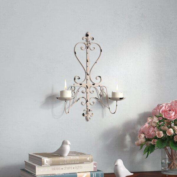 Fleur De Lis Antiqued Iron Sconce by Fleur De Lis Living
