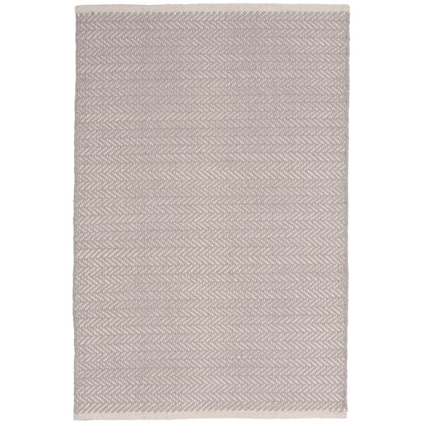Herringbone Hand-Woven Grey Area Rug by Dash and A