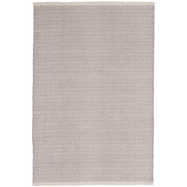 Herringbone Hand-Woven Grey Area Rug by Dash and Albert Rugs