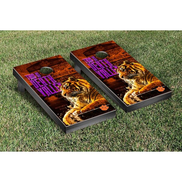 NCAA Clemson Tigers This Is Death Valley Version Cornhole Game Set by Victory Tailgate