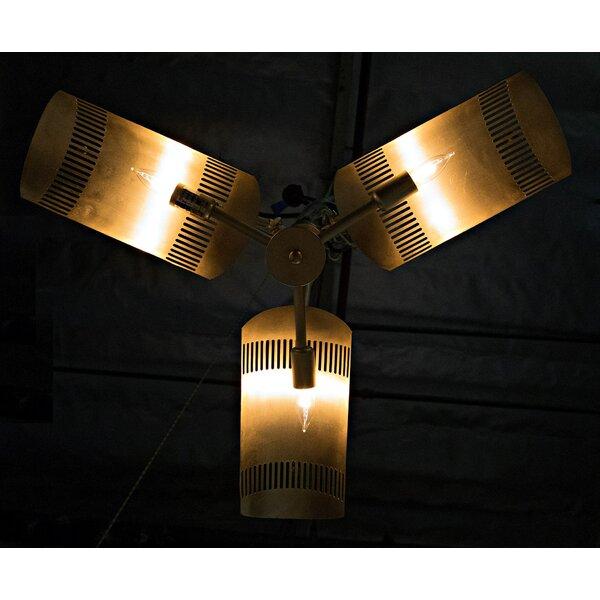 Task 3-Light Shaded Chandelier by Noir