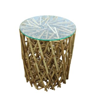 Lefkoniko Maze Bamboo End Table