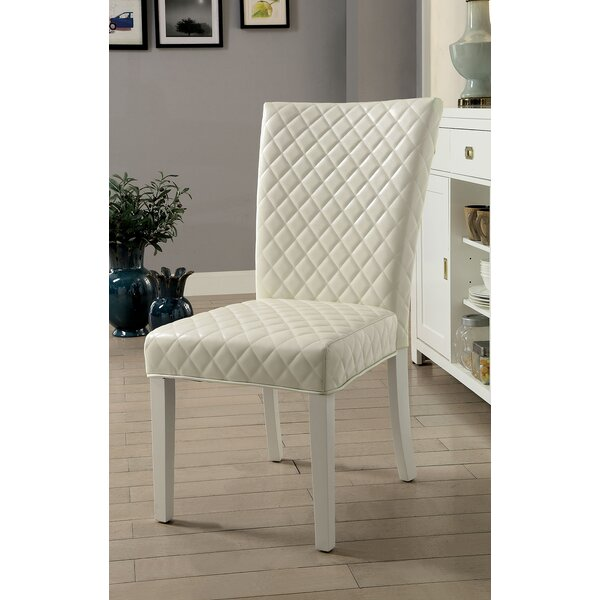 Haskins Upholstered Dining Chair (Set of 2) by Mercer41