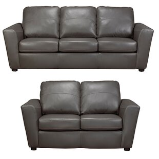 Delta Leather 2 Piece Living Room Set  by Coja