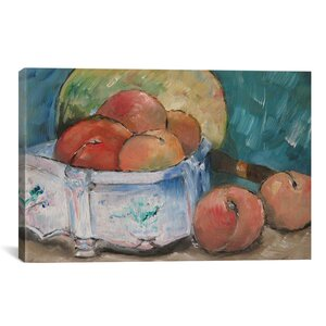 'Fruit Bowl' by Paul Cezanne Painting Print on Canvas by iCanvas