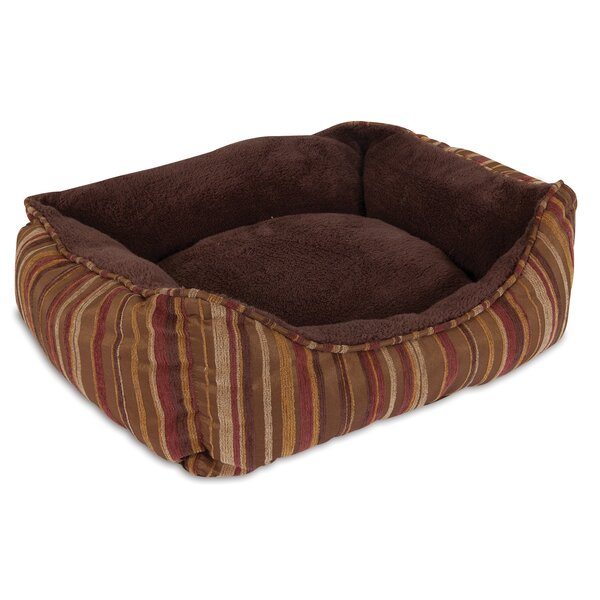 Rectangular Lounger Bolster Dog Bed by Aspen Pet