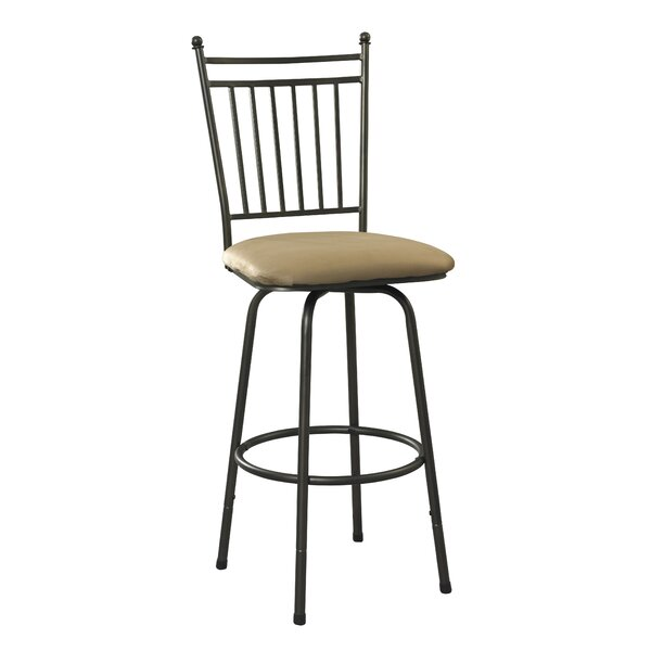 Busti Adjustable Height Swivel Bar Stool (Set of 3) by Red Barrel Studio