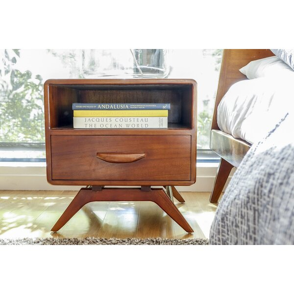Hogue 1 Drawer Nightstand by Rosecliff Heights