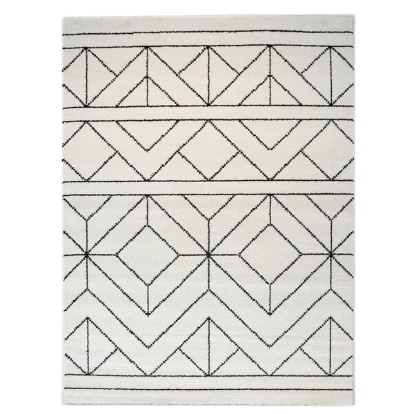 Elle Geometric Cream Area Rug