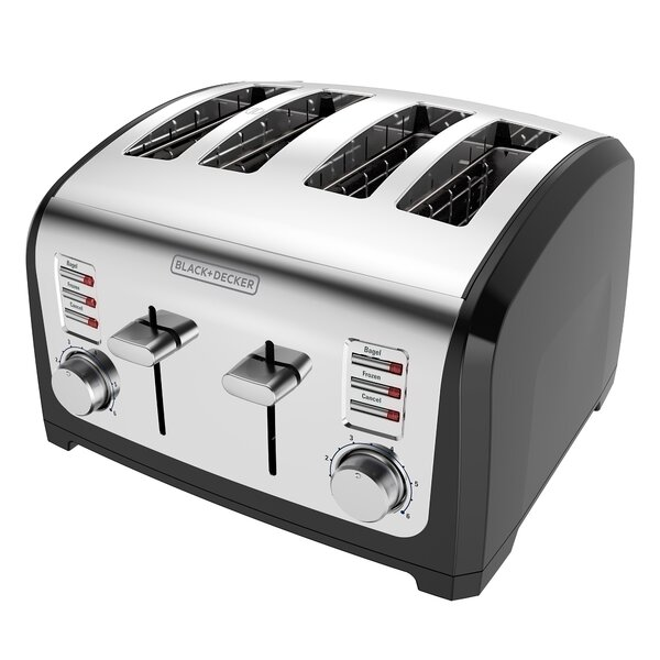 4-Slice Bagel Stainless Steel Toaster by Black + Decker