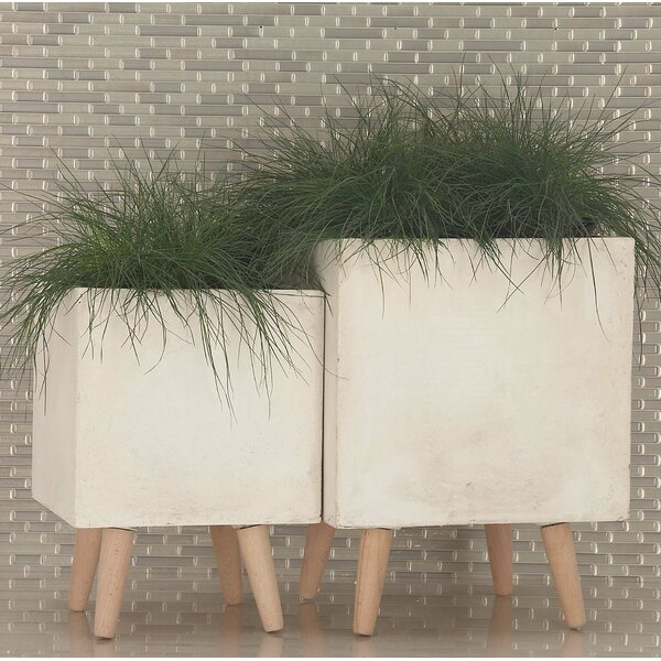 Diller Fiberclay 2-Piece Pot Planter Set by George Oliver
