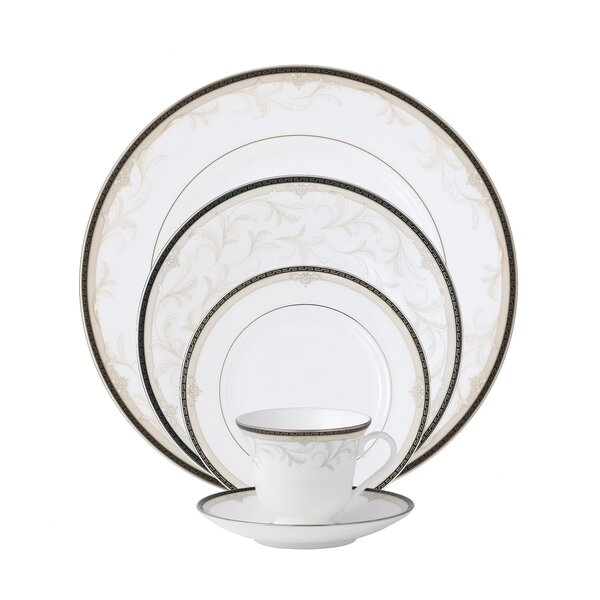 Brocade Bone China 5 Piece Place Setting, Service for 1 by Waterford