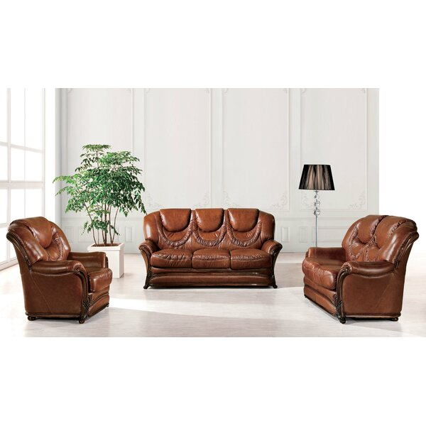 Renfroe Wood Trim 3 Piece Sleeper Living Room Set by Canora Grey